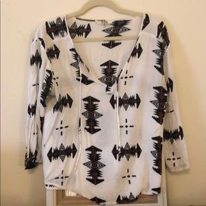 BB Dakota Native American print blouse